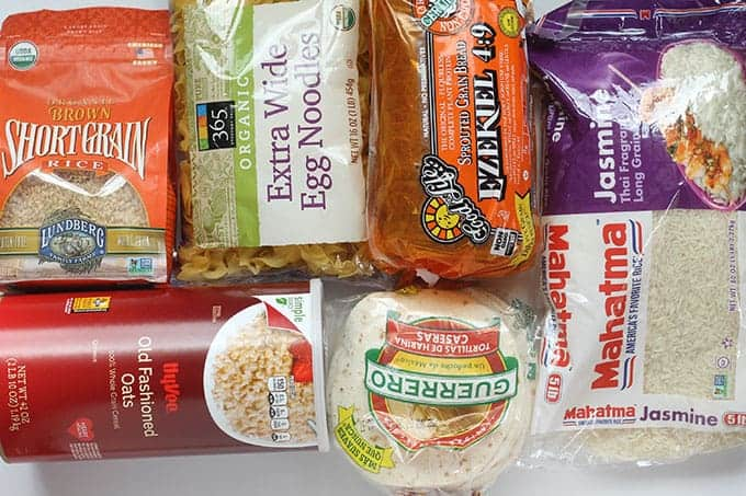whole grain pantry staples