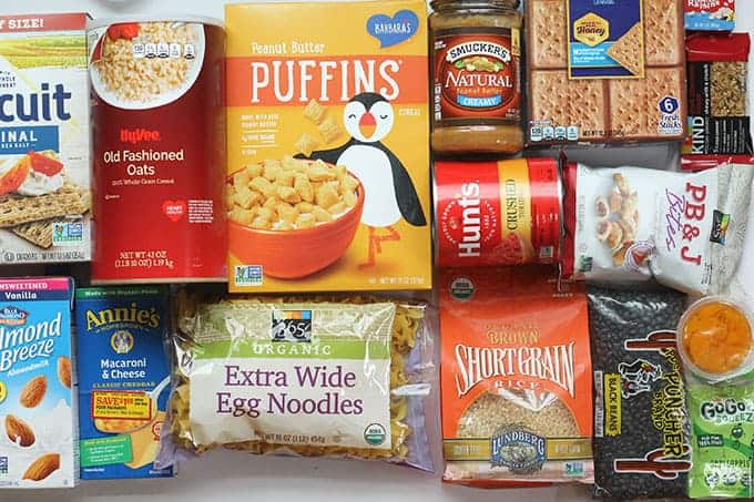 pantry staples for a family