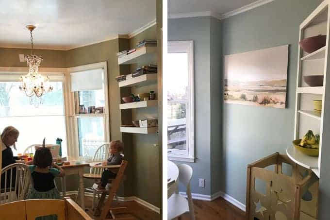 kitchen shelves before and after