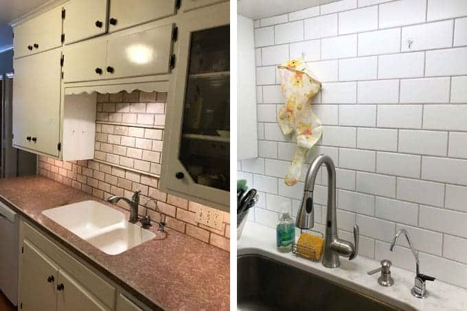 kitchen sink before and after