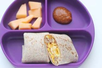 Easy Breakfast Burritos (4-Ingredients)