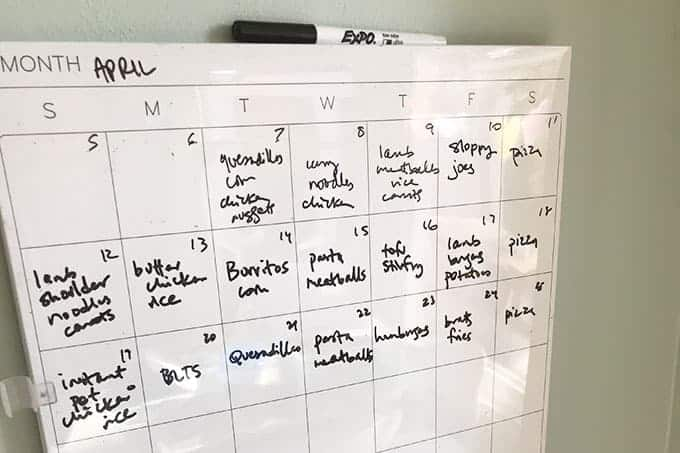 meal-planning-white-board