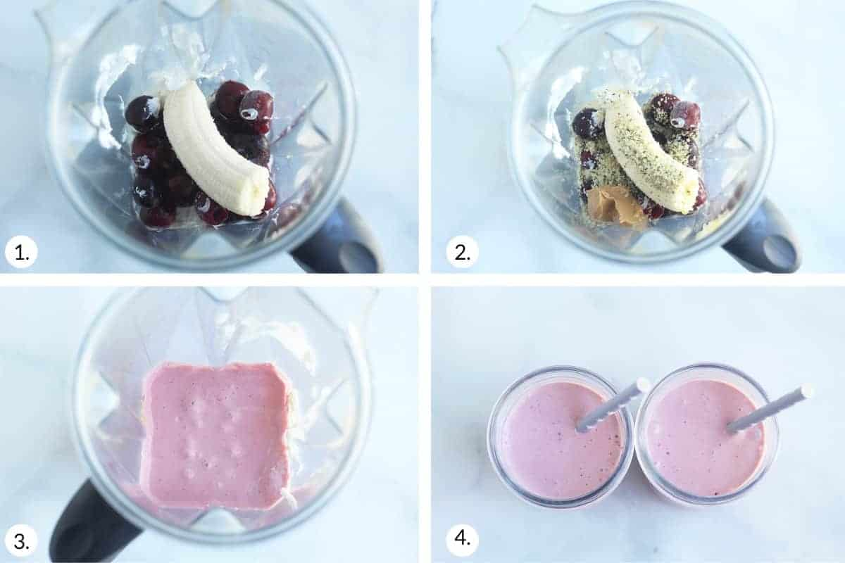 how-to-make-cherry-smoothie-step-by-step