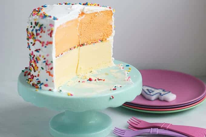 Easy Homemade Ice Cream Cake Using Any Flavor