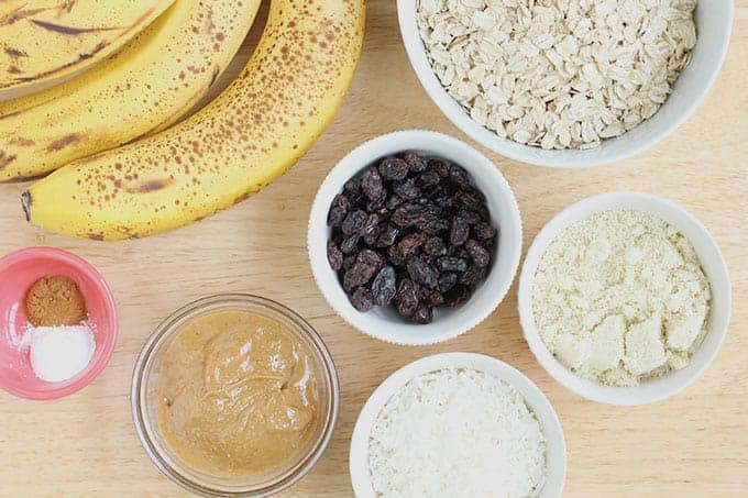 ingredients-in-banana-oatmeal-breakfast-cookies