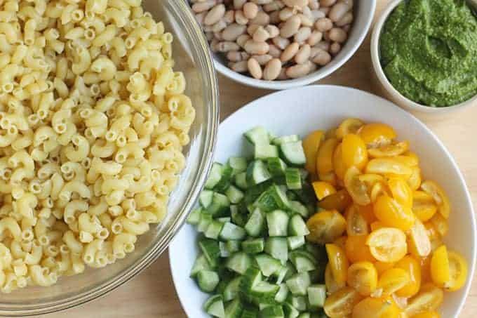 ingredients-in-pesto-pasta-salad-recipe