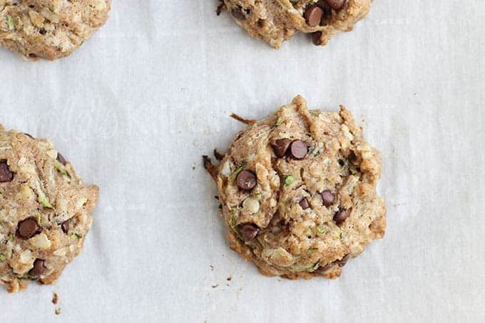 zucchini-chocolate-chip-cookies-on-parchment