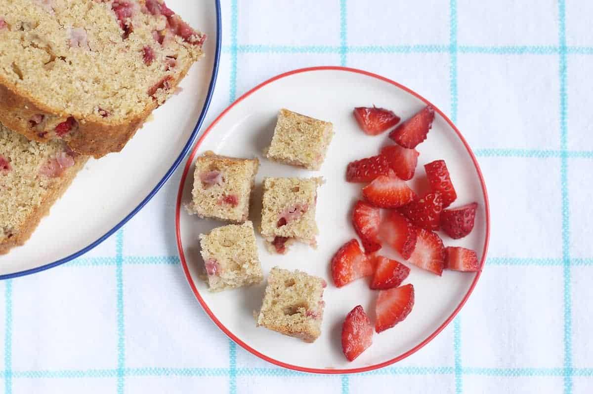 diced-strawberry-banana-bread