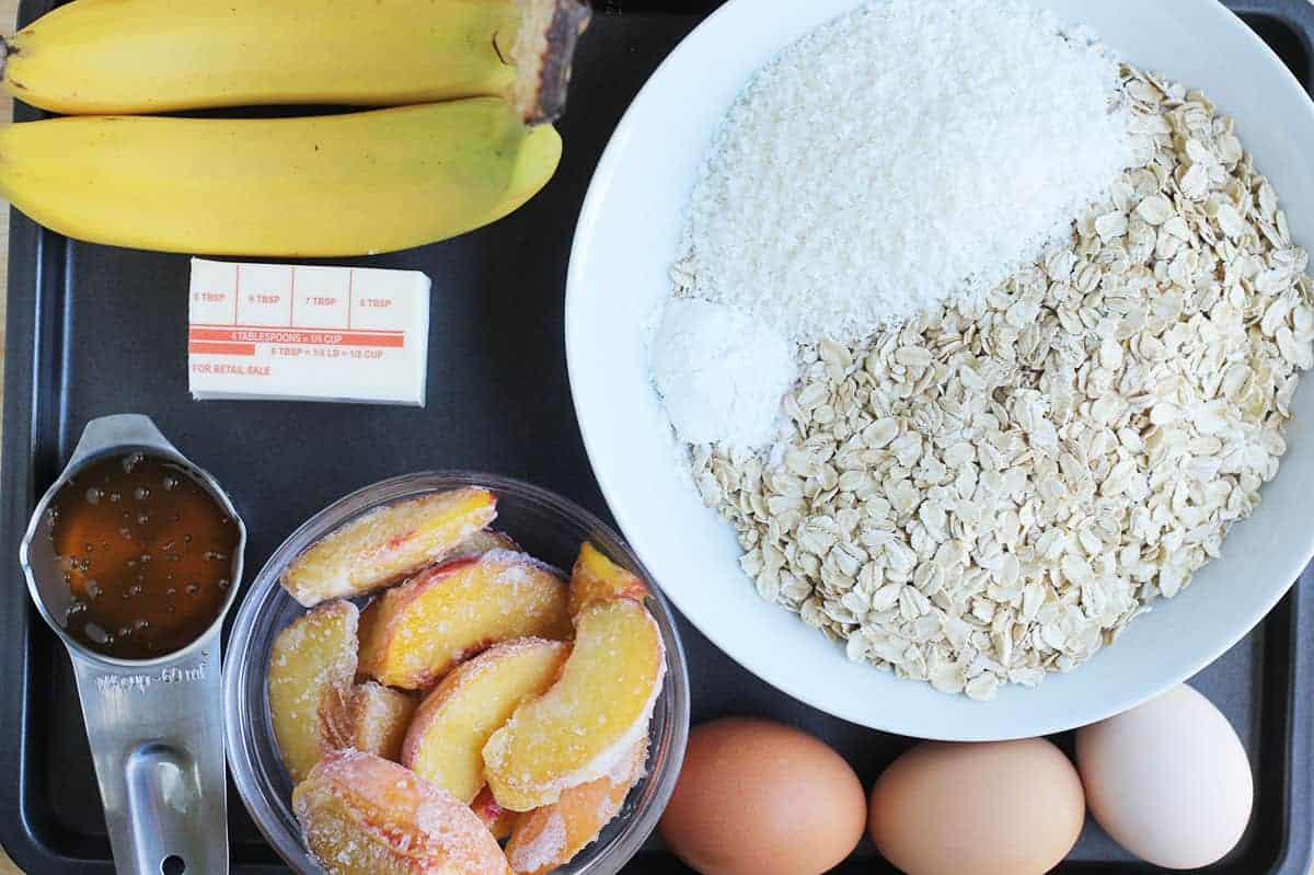 ingredients-in-peach-muffins