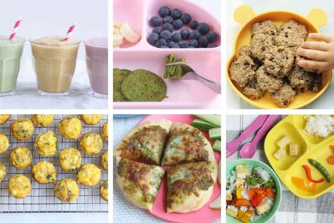july meal plan image in grid of 6