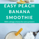 peach banana smoothie pin 1
