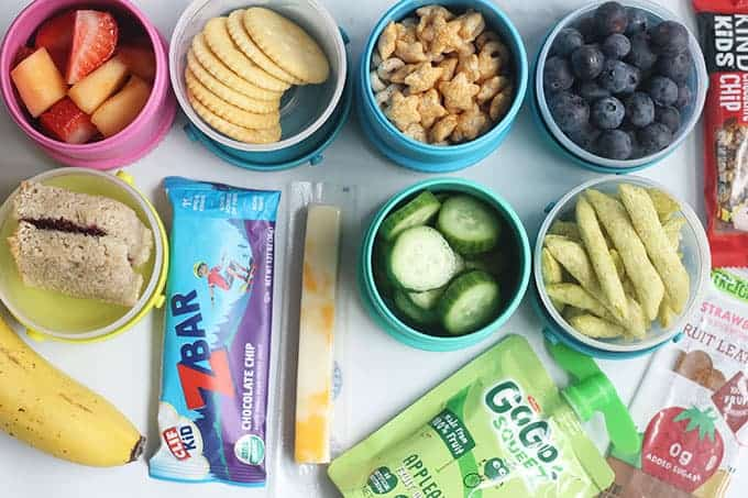 preschool-snack-assortment-on-countertop