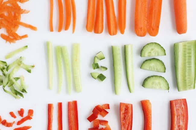 sliced-veggies-for-kids-lunches