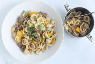 Easy Pasta with Summer Squash and Beef