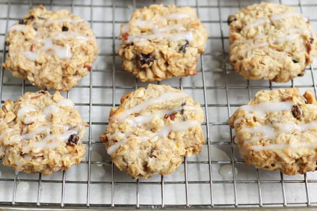 apple-cookies-with-icing-on-wire-rack