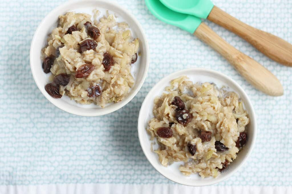 apple-oatmeal-in-white-bowls