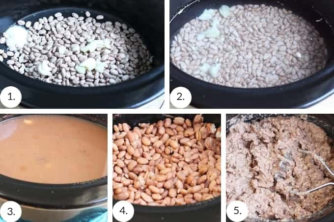 homemade refried beans step by step