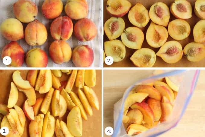how to freeze peaches step by step