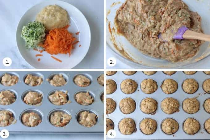 how-to-make-zucchini-carrot-muffins-step-by-step