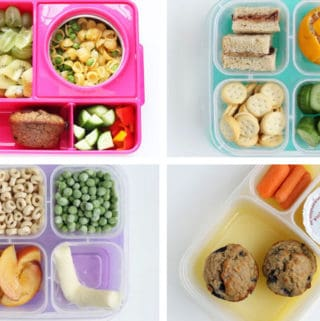4 kindergarten lunches in grid