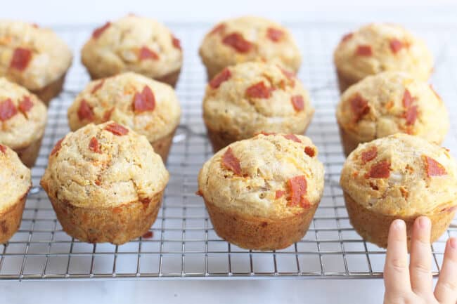 pizza-muffins-on-wire-rack
