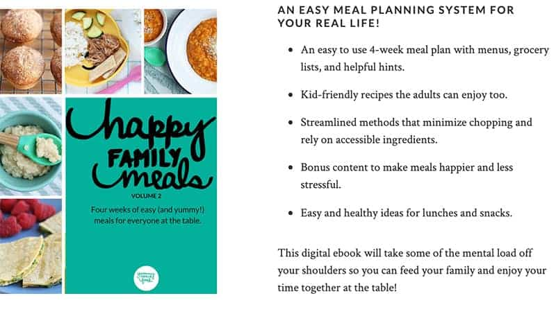 happy family meals ebook ad
