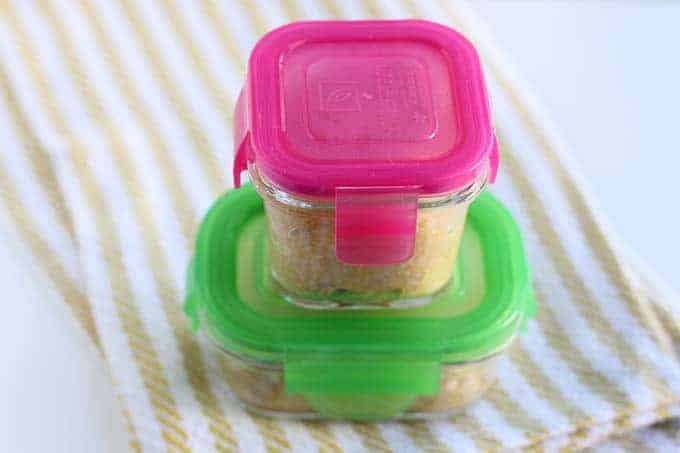 butternut squash oatmeal in storage containers