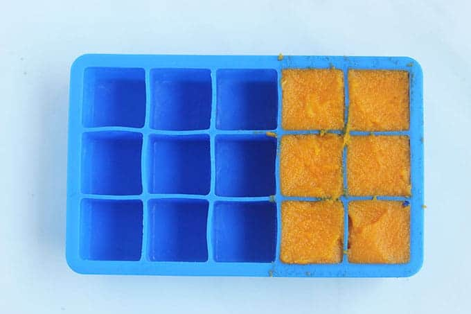 carrot-puree-in-ice-cube-tray