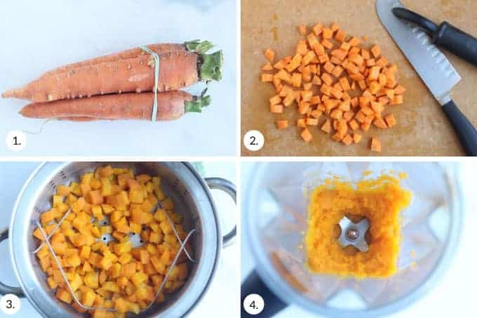 how to make carrot puree step by step process