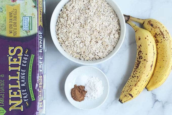 ingredients-in-healthy-banana-cookies-on-counter
