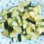 roasted-zucchini-on-polka-dot-plate