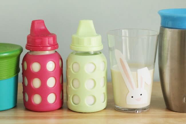 toddler-milk-in-sippy-cups-and-open-cups