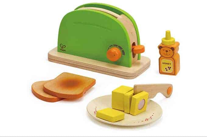 Hape play toaster set