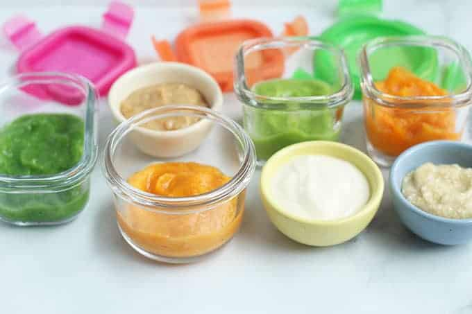 baby-food-combinations-on-countertop
