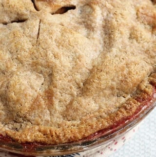 baked cranberry apple pie