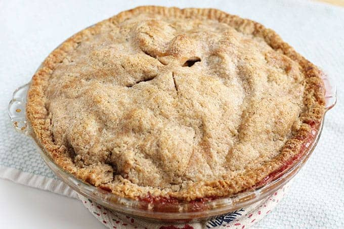 cranberry apple pie with whole wheat crust