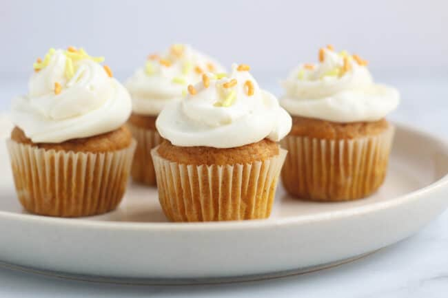 mini-pumpkin-cupcakes-on-plate