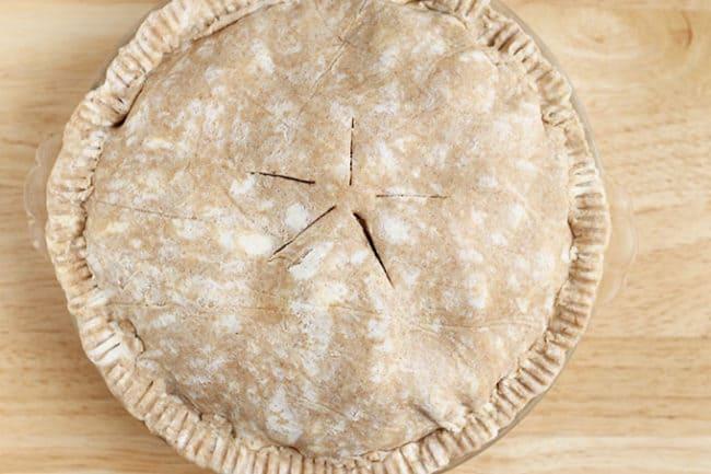 whole wheat pie crust on pie