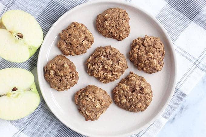 whole-wheat-applesauce-cookies-on-plate