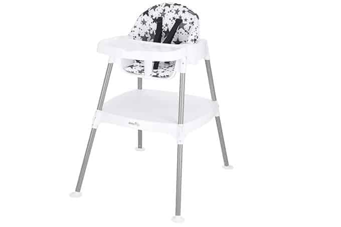 Evenflo 4-in1 eat and grow highchair in pop star print