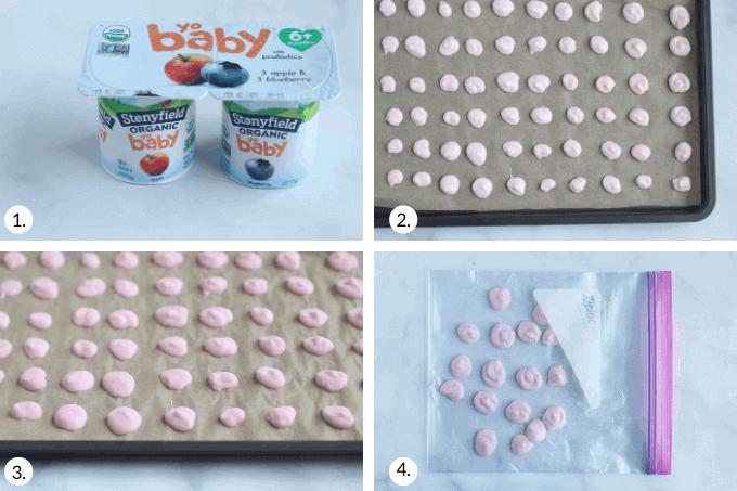 how to make yogurt melts step by step