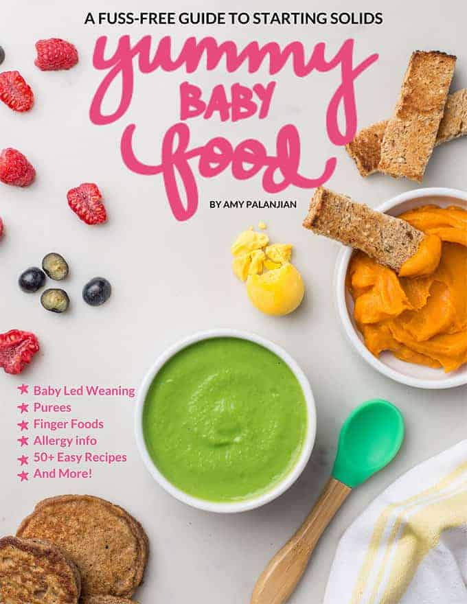 cover of yummy baby food ebook