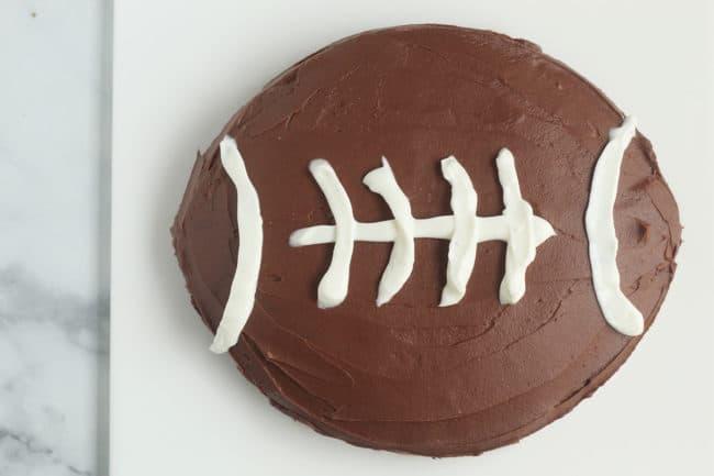chocolate-football-cake-on-cutting-board