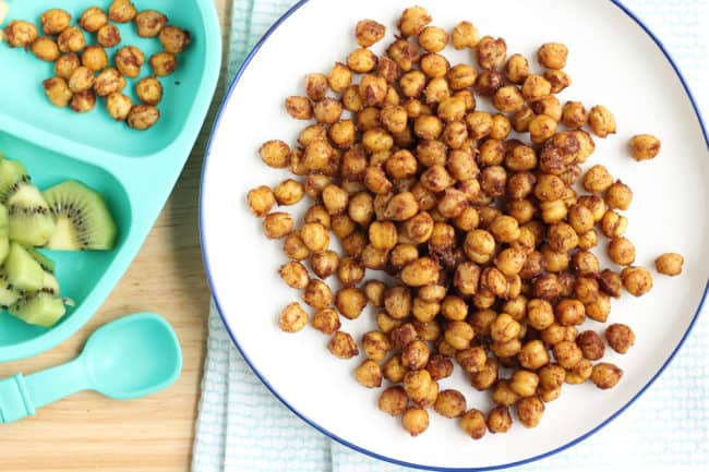 soft-roasted-chickpeas-on-white-plate
