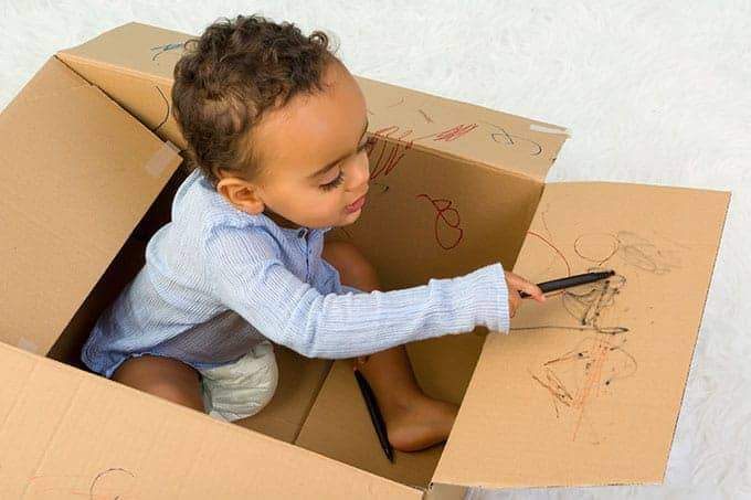 toddler-coloring-cardboard-box