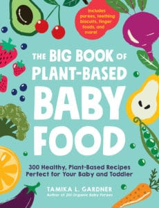 cover of big book of plant based baby food