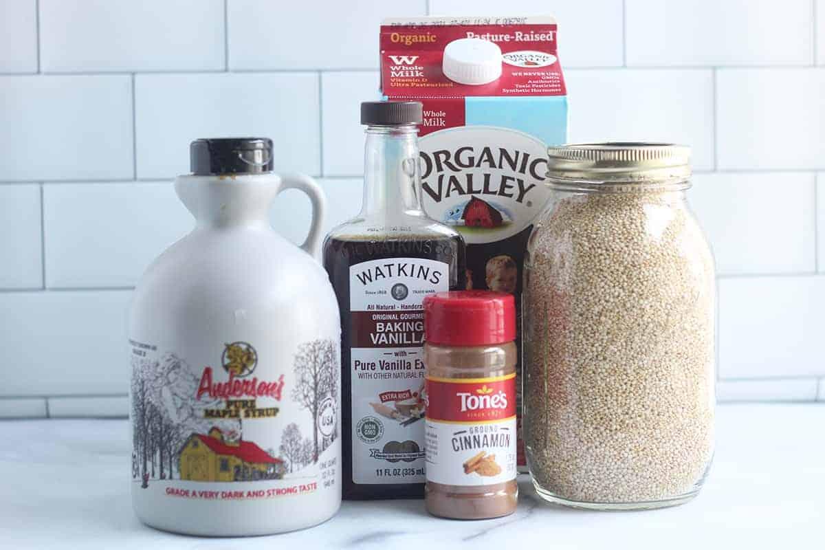 ingredients-in-quinoa-pudding