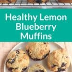 lemon blueberry muffins pin 1