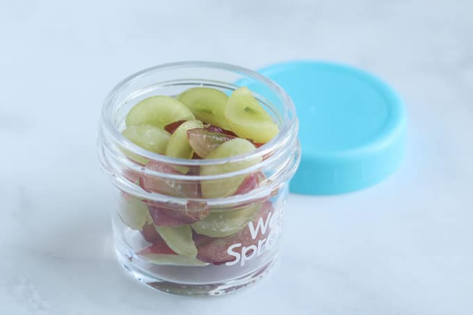 quartered-grapes-in-baby-food-container