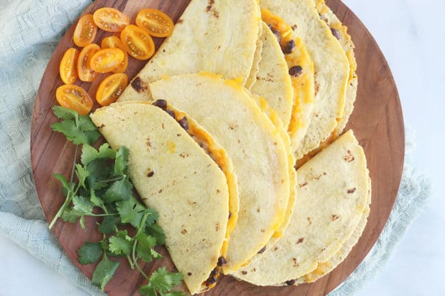 sheet-pan-quesadillas-on-platter